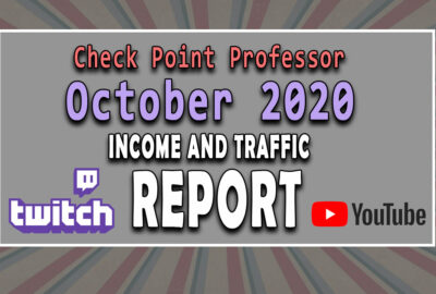 October Checkpoint Professor Twitch Youtube Income and Traffic Report
