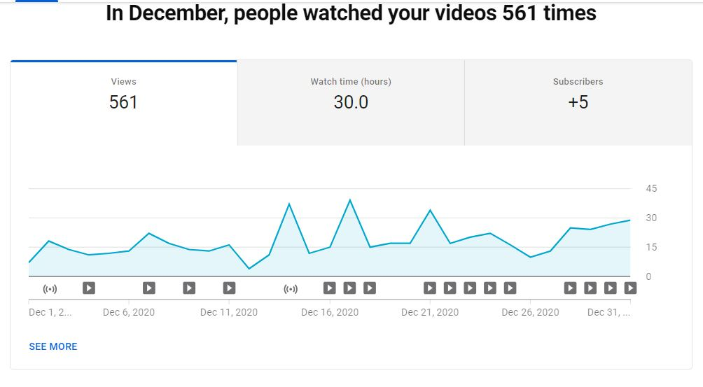 Check Point Professor December 2020 YouTube Views