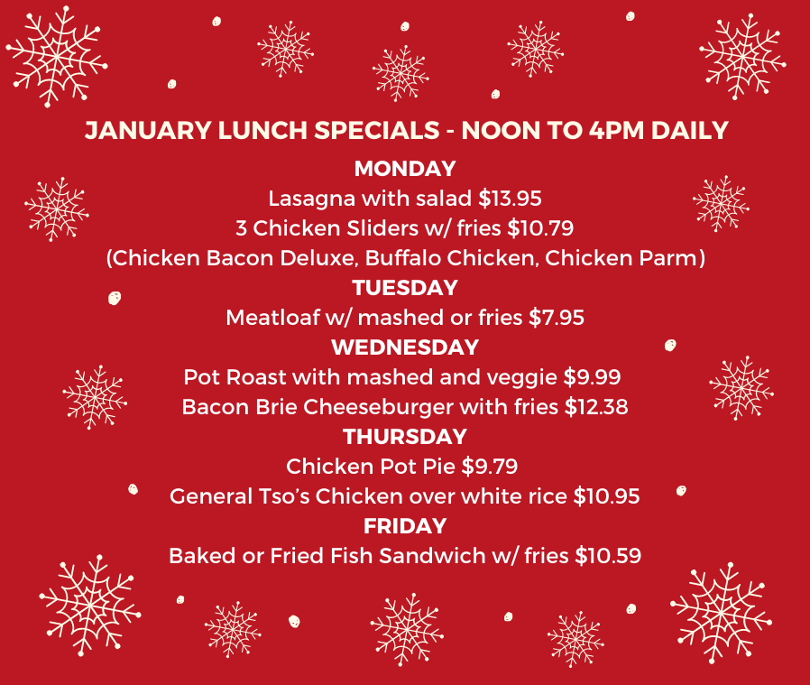January Lunch Specials