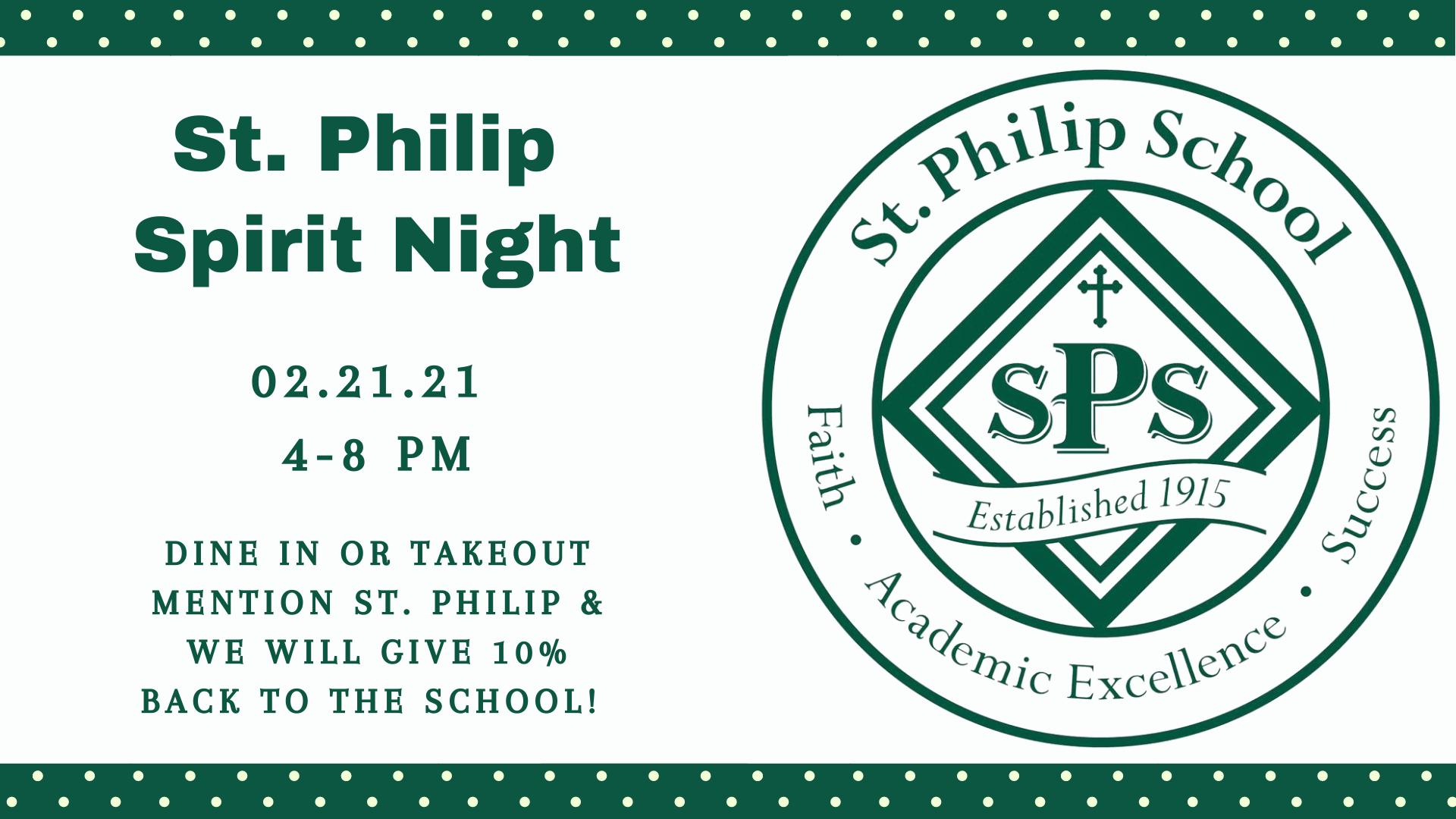 St. Philip Spirit Night