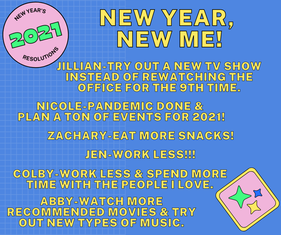 2021 New Year Resolutions
