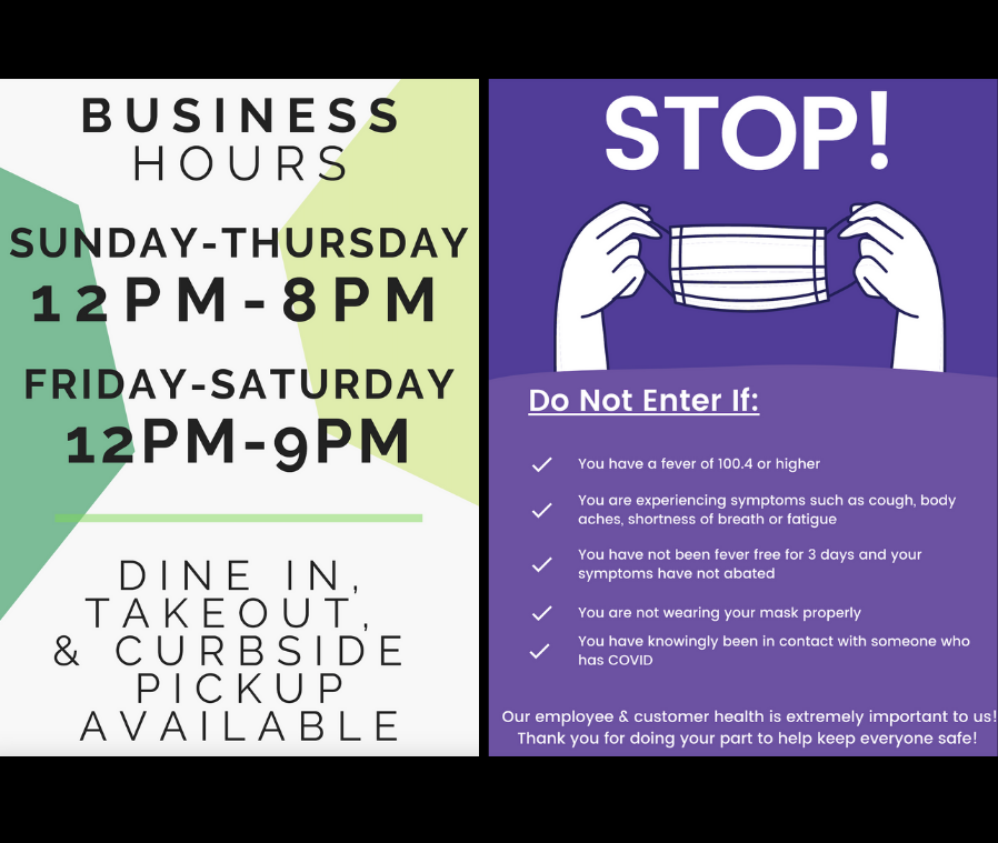 New Hours & Safety Measures