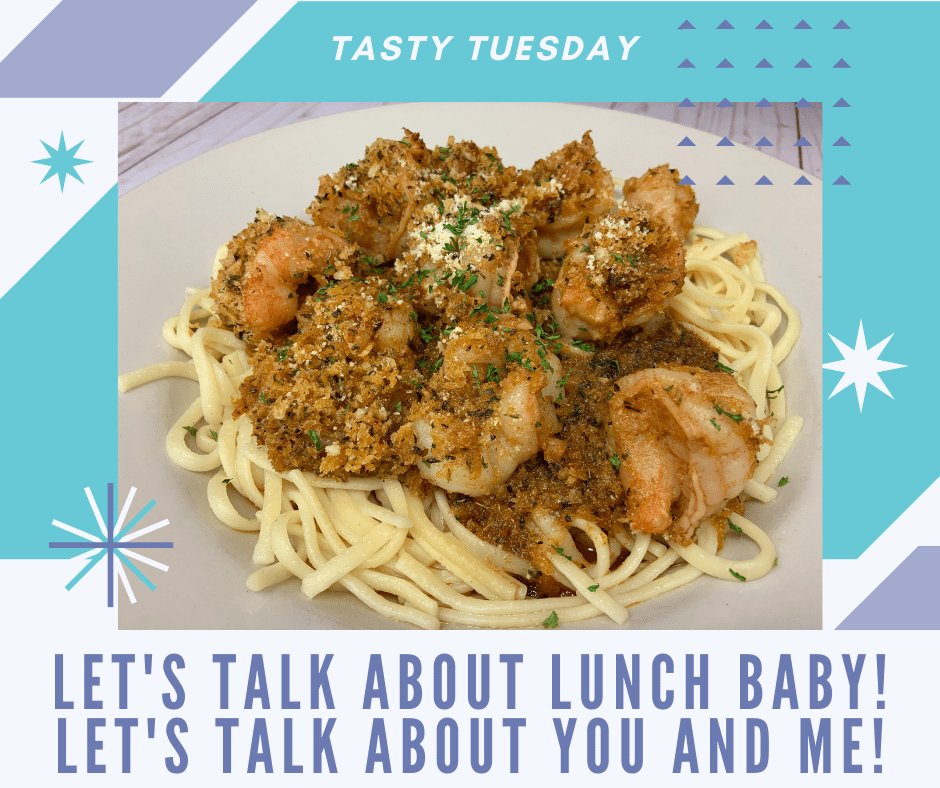 Tasty Tuesdays-Linguini and Scampi