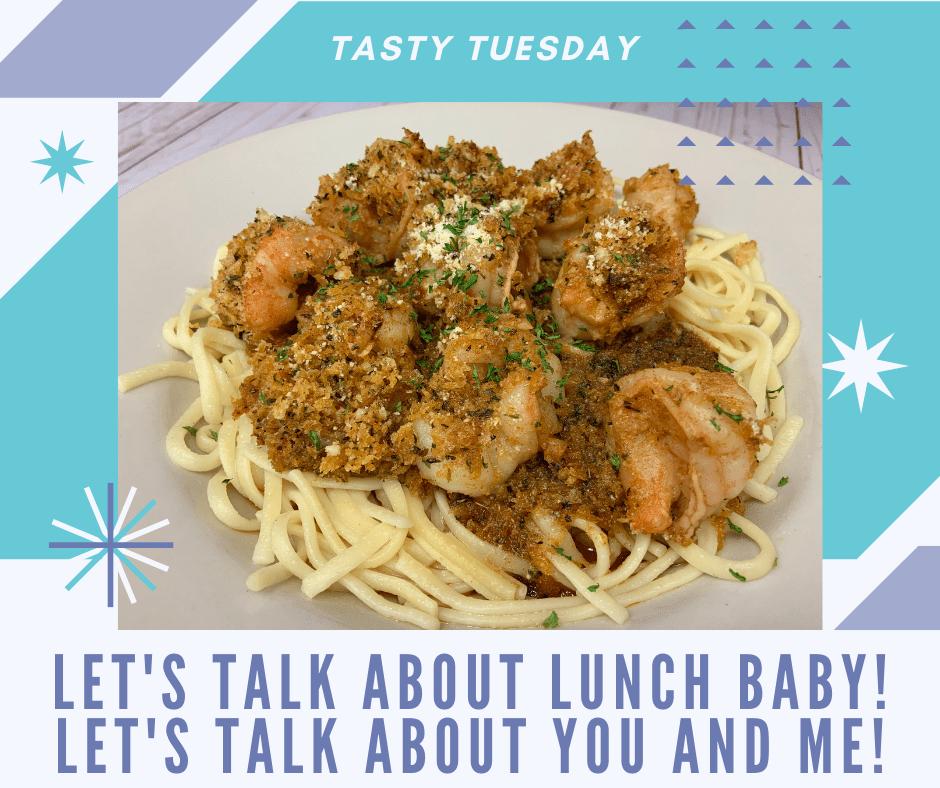 Tasty Tuesdays-Linguini and Scampi