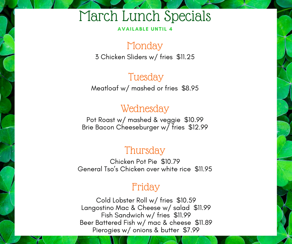 March Lunch Specials