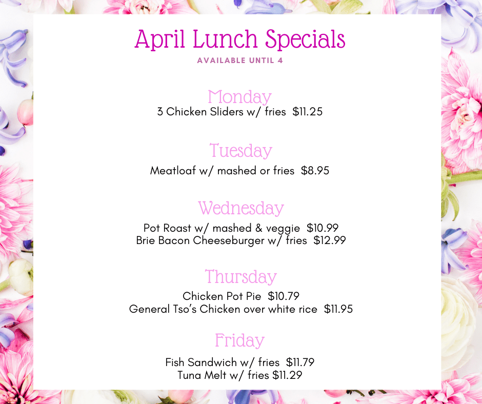 April Lunch Specials