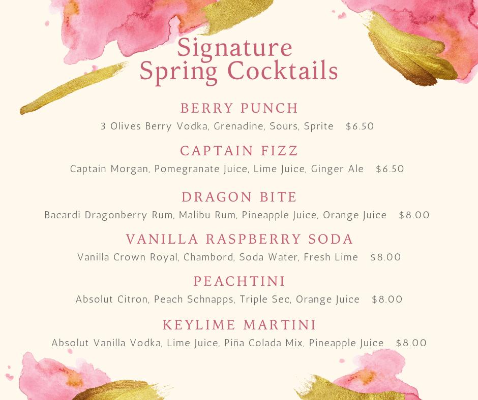New Spring Cocktails