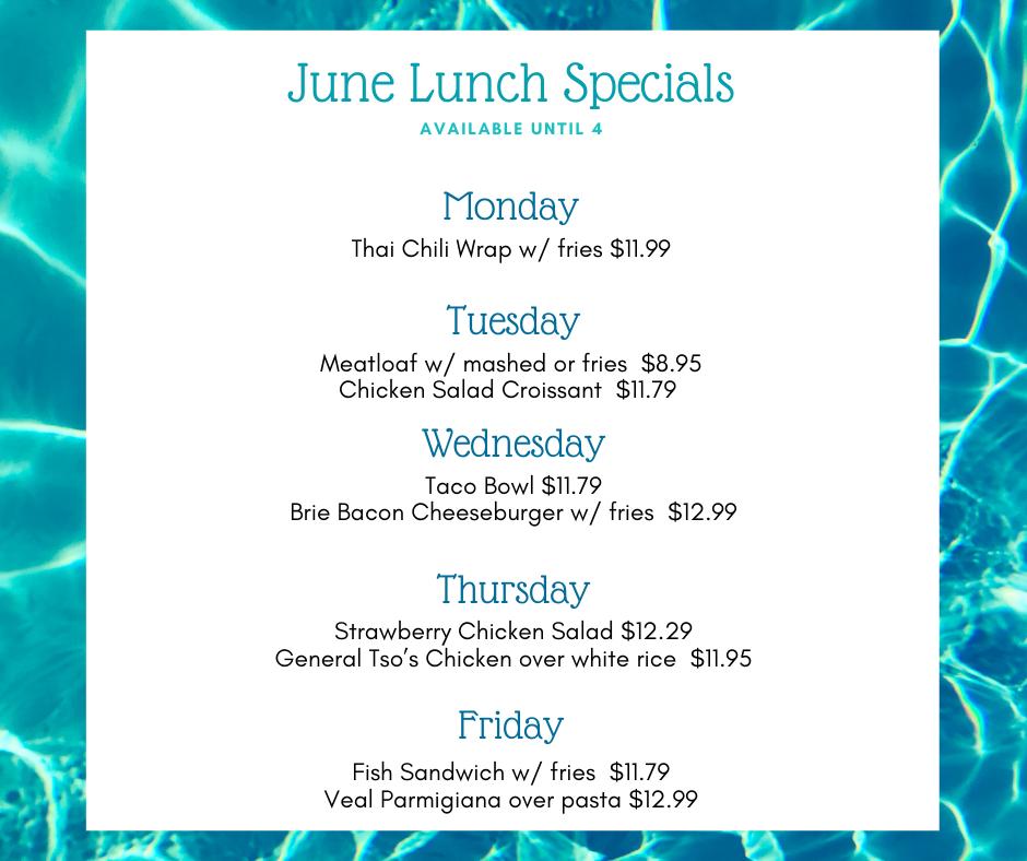 June Lunch Specials