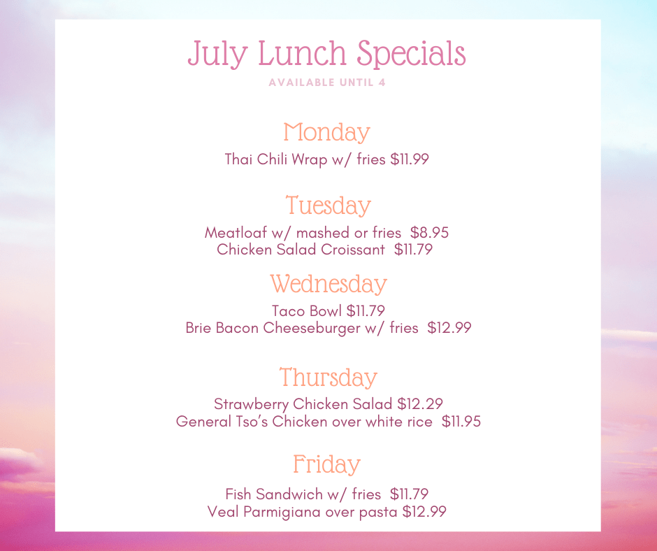 July Lunch Specials
