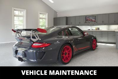 Vehicle in garage