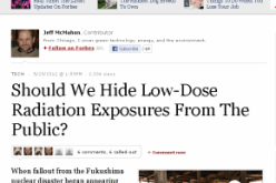 Forbes Calls Out Media, Govt For Lying About Safety Of 'Low-Dose' Radiation