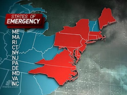 States-Of-Emergency-Declared-Along-Eastern-Seabord