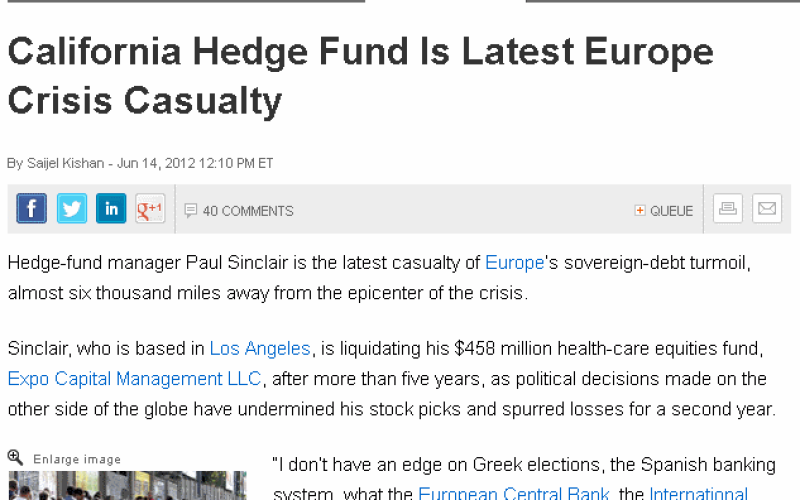 Tidal Wave Of Greek Fallout – 775 US Hedge Funds Failed Within Last Year