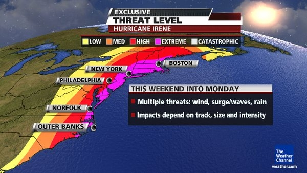 Weather-Channel-Puts-Northeast-on-EXTREME-THREAT-LEVEL-From-Hurricane-Irene