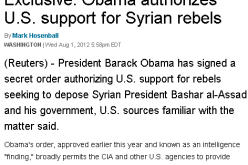 Memory Hole – Obama Officialy Authorizes Covert War To Overthrow Syria