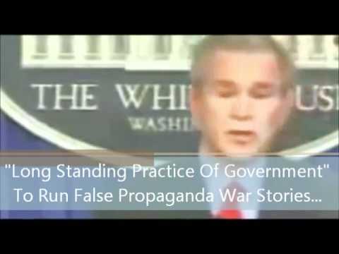 Bush admits it is long-standing US practice to run false propaganda war stories