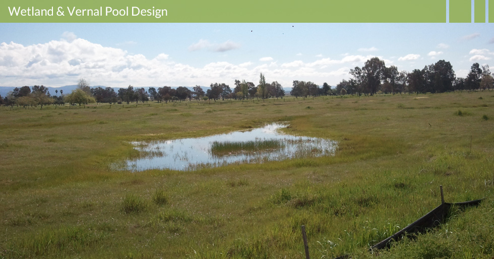 Melton Design Group, a landscape architecture firm, designed Wetland Protection in Oroville, CA. Silt fencing was installed around the wetland area to serve as sediment control to protect the quality of water.