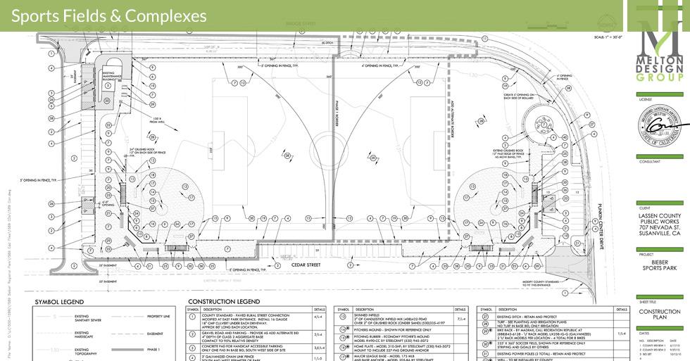 Melton Design Group, a landscape architecture firm, designed Bieber Sports Park in Bieber, CA.