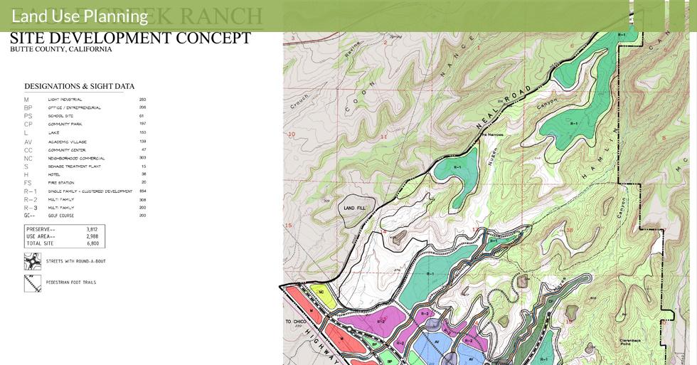 Melton Design Group, a landscape architecture firm, designed Eagle Creek Development Concept in Butte County, CA.