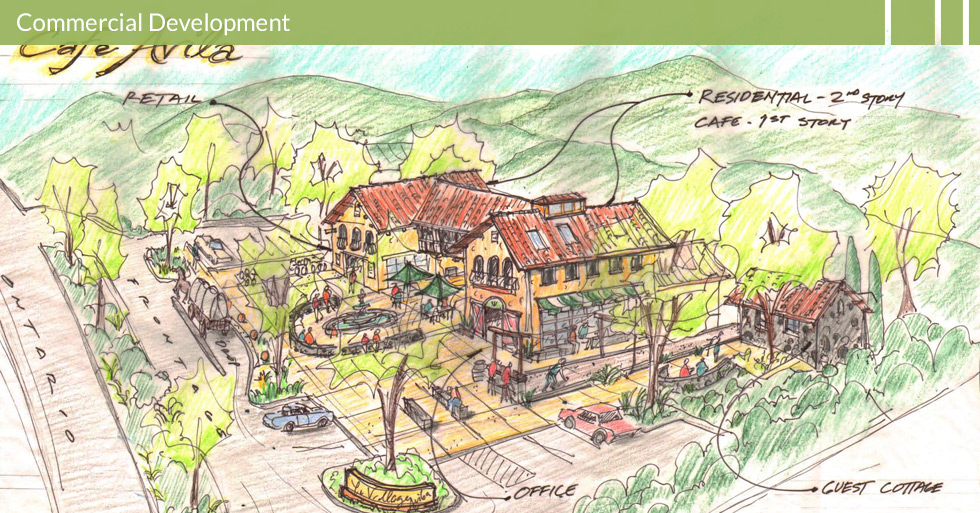 Melton Design Group, a landscape architecture firm, designed Café Avila in Avila, CA.