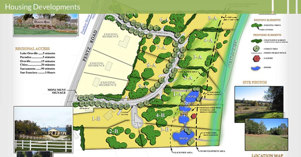 Melton Design Group, a landscape architecture firm, designed Diamond Ridge Estates in Paradise, CA.
