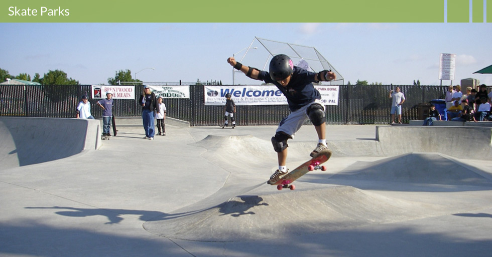 Melton Design Group is a landscape architecture firm that designed the skate park for Brentwood, CA. This skate park is state-of-the-art and features a raised platform for viewing skate competitions or everyday use.