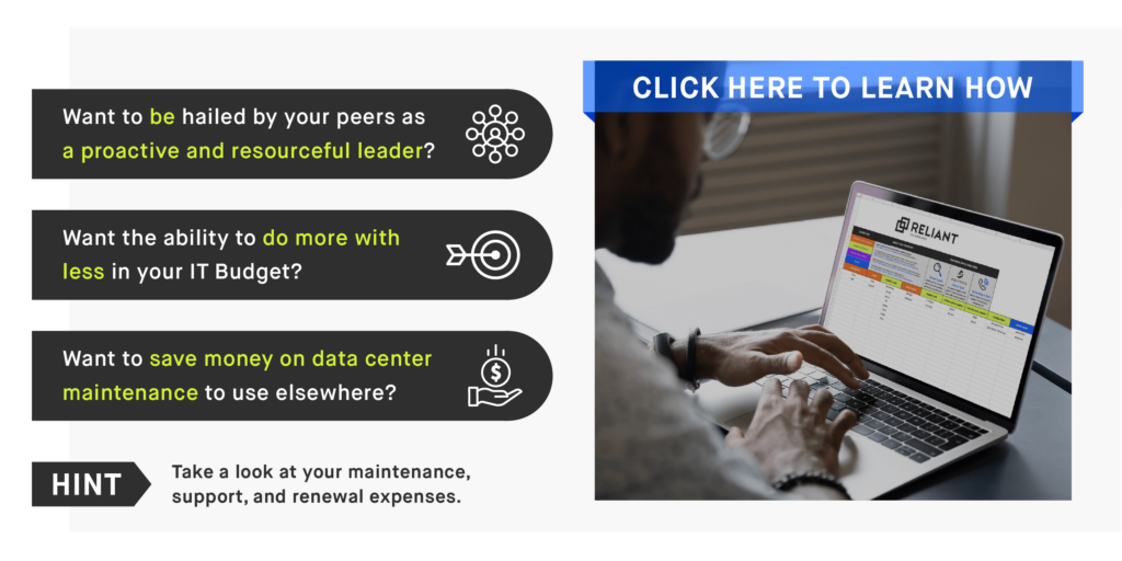Reliant's IT Asset Maintenance Optimization Platform