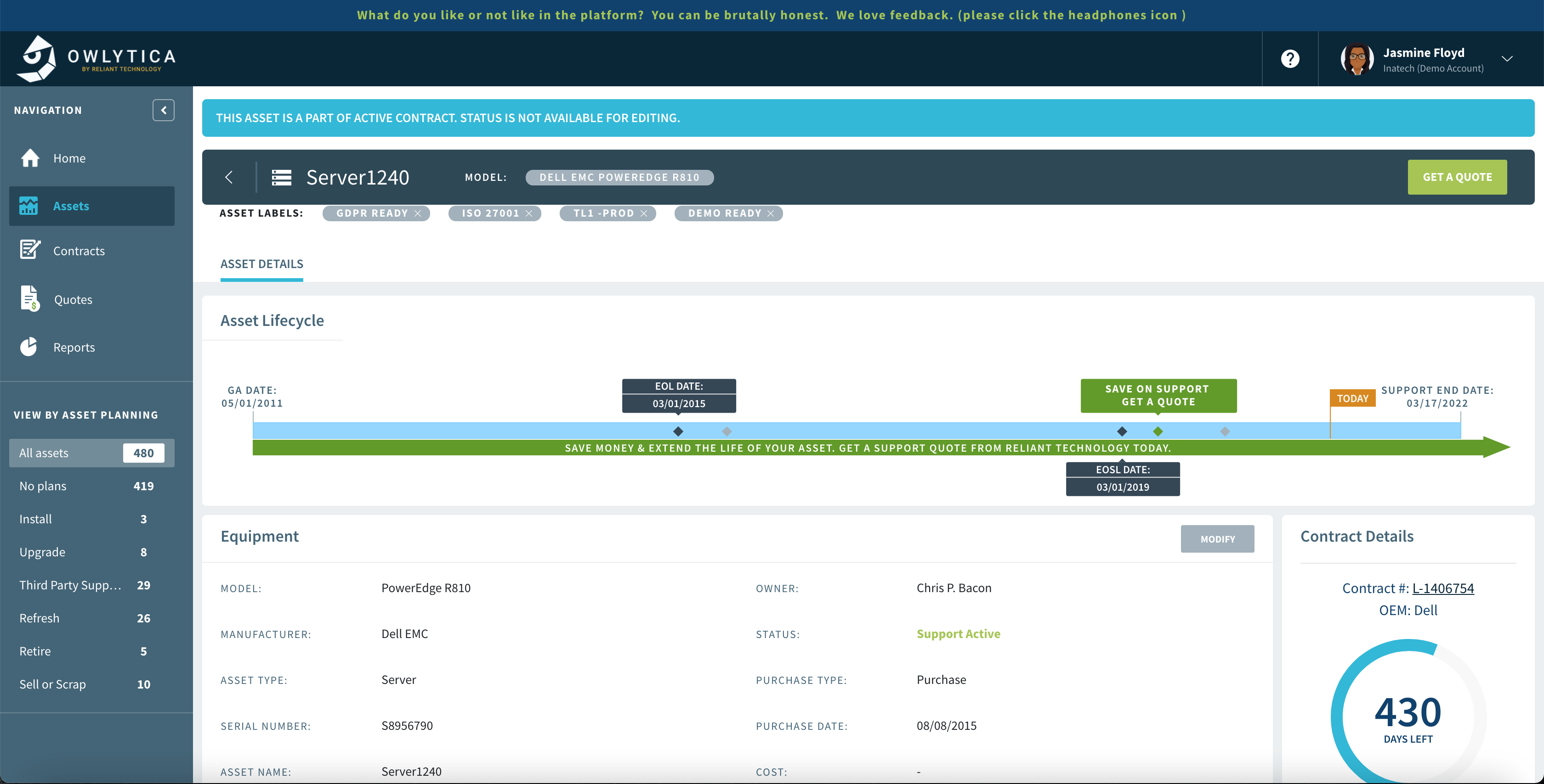 tracking EOL and EOSL dates