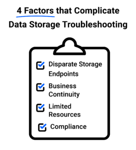 4 Factors that Complicate Data Storage Troubleshooting