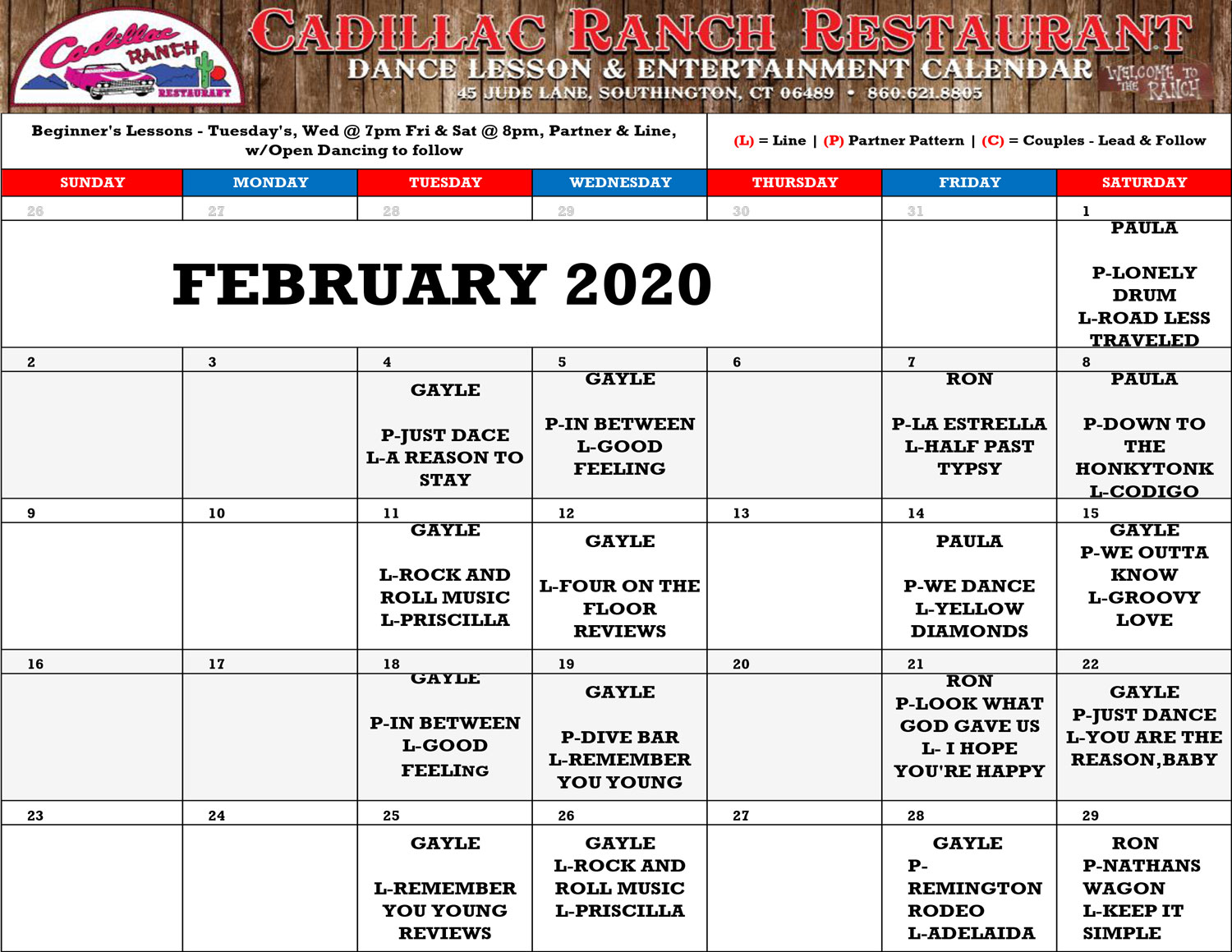 2020-2-Cadillac-Ranch-Schedule