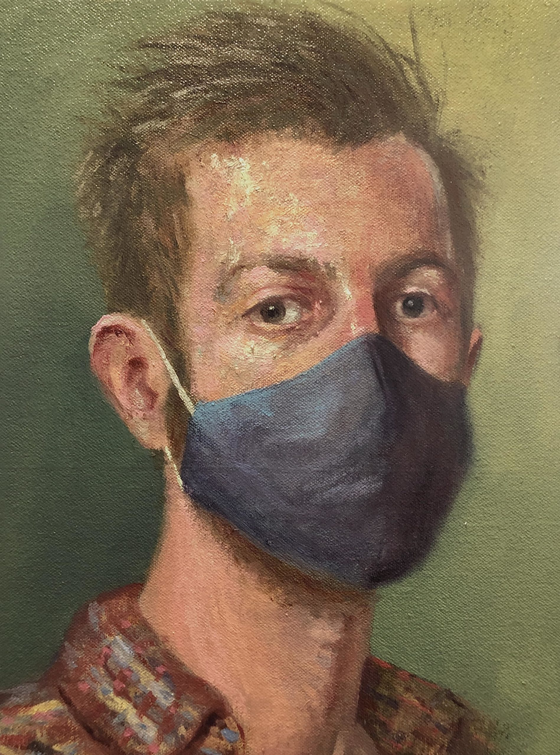 SELF PORTRAIT WITH MASK by JOHN JAMESON