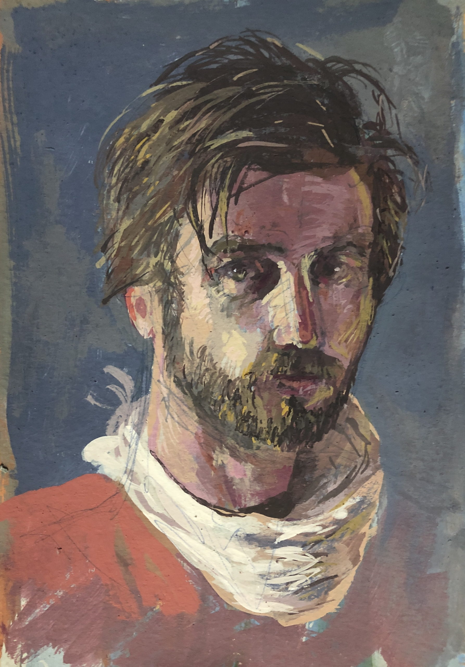 SELF PORTRAIT WITH WHITE HANDKERCHIEF by JOHN JAMESON