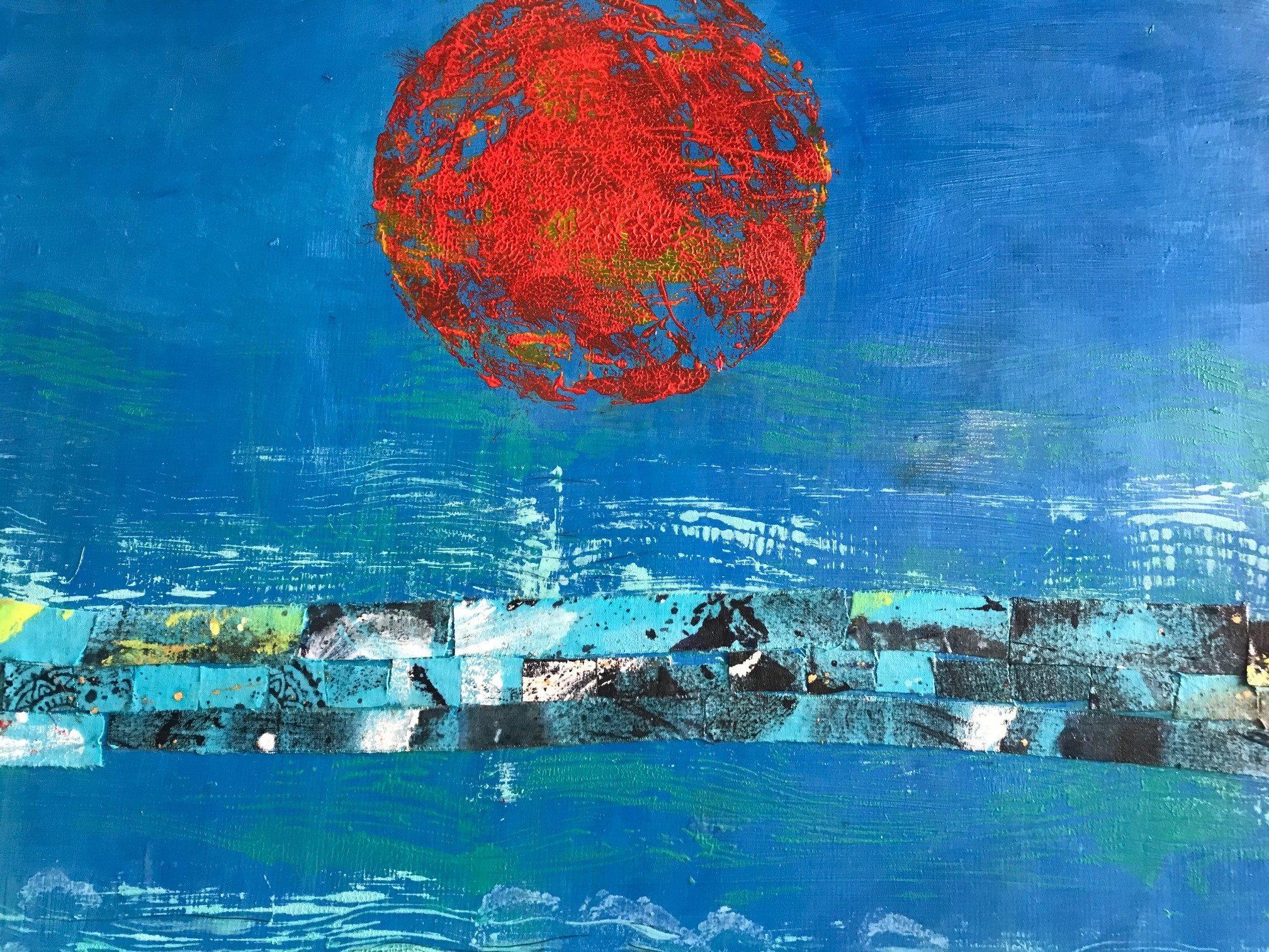RED SUN by JUDITH KLEIN