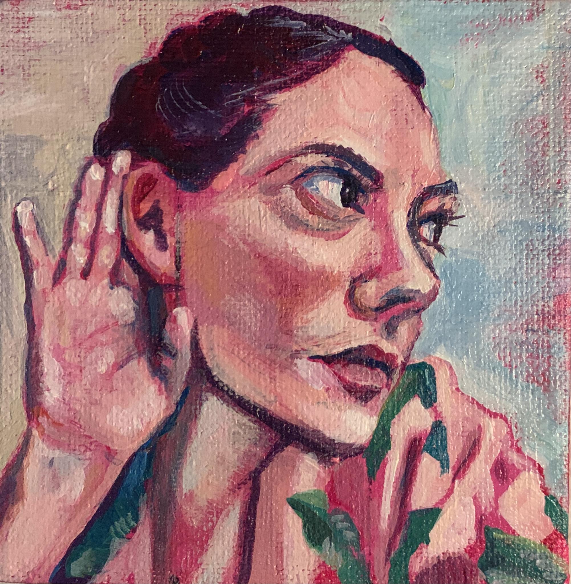 SELF PORTRAIT, THE HEARKENER by STEPHANIE SHERMAN