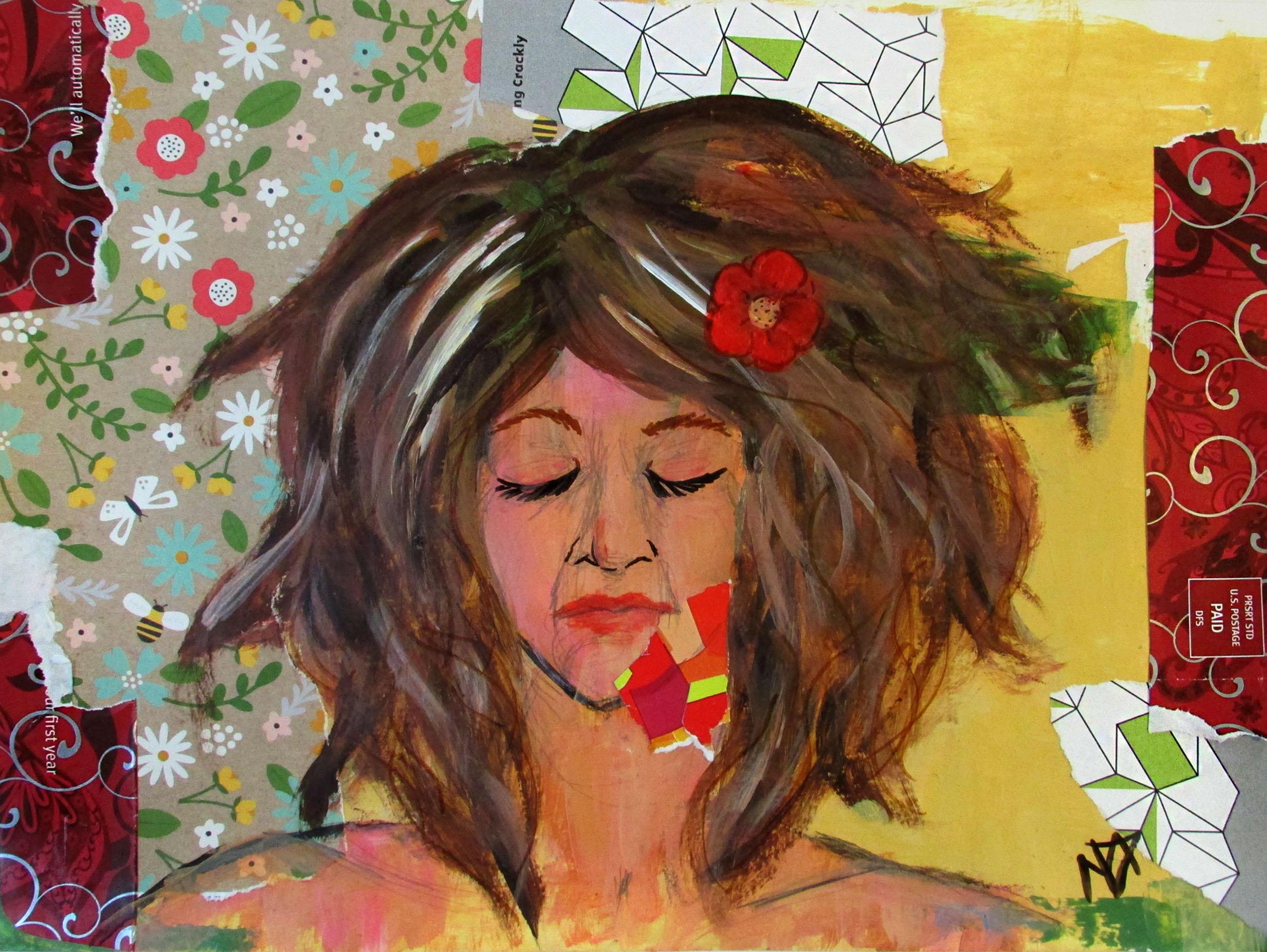 SELF PORTRAIT IN CHAOS by MELANIE DUCHARME