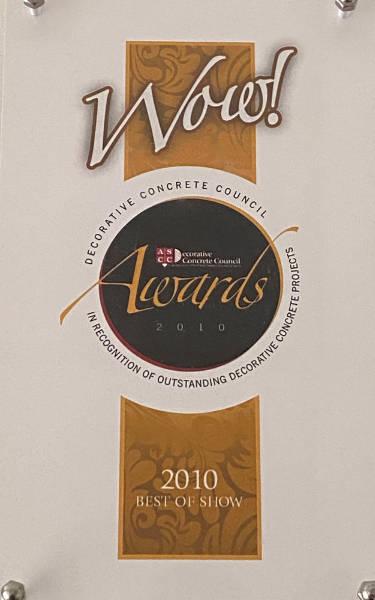 ASCC's Decorative Concrete Council Wow! Award