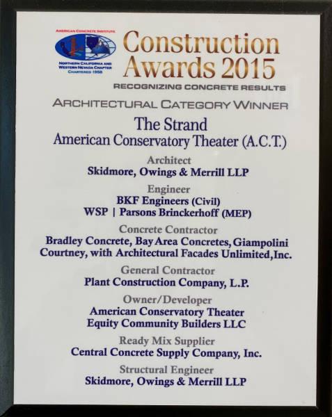American Concrete Institute Architectural Concrete Award Winner