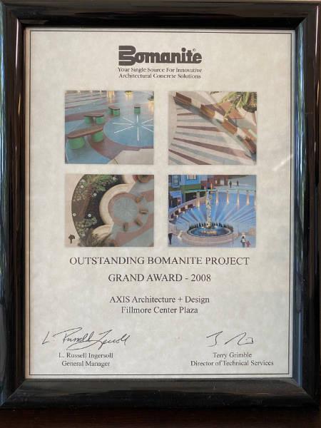 Bomanite Award Outstanding Bomanite Project Grand Award 2008