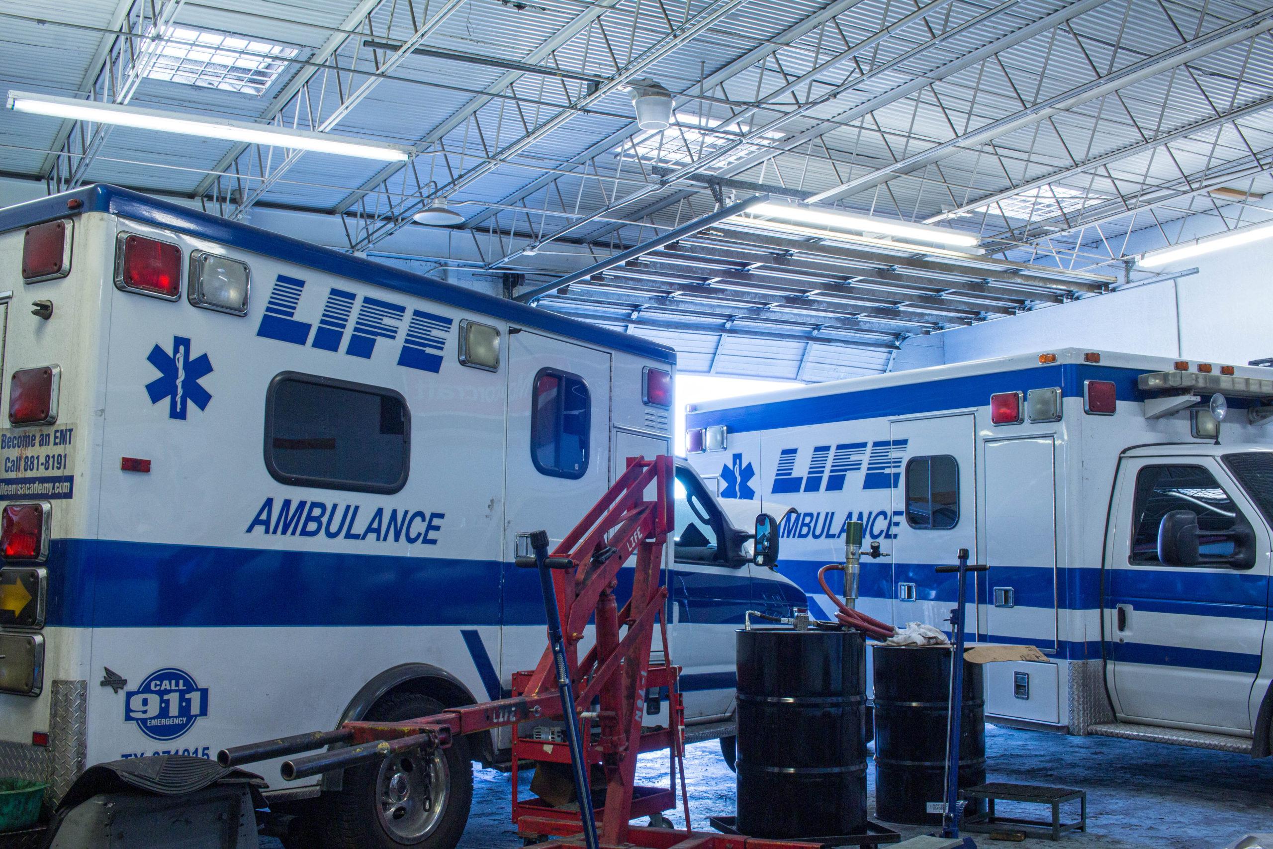 LIFE AMBULANCE on-site fleet maintenance