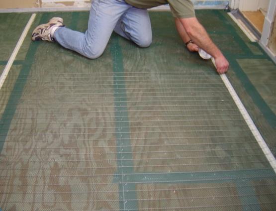 Tile Warming Installation - 1