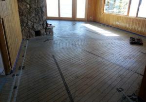 Grand Marais Home electric radiant floor heating installation