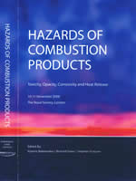 Book cover for Hazards of Combustion Products: Toxicity, Opacity, Corrosivity and Heat