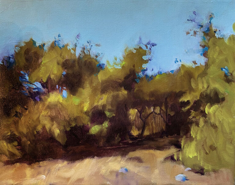 """Small Clearing, 11"""" x 14"""""""