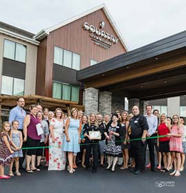 Fox West Chamber ribbon cutting event.