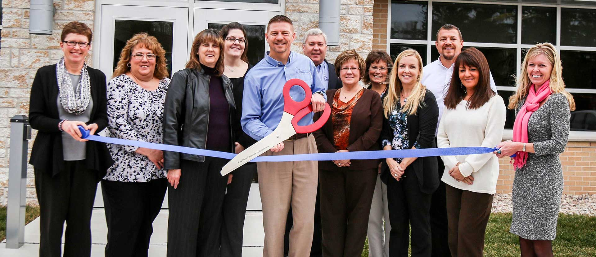 Ribbon cutting ceremony in Greenville, WI.