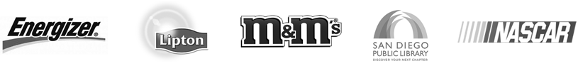 Client Logos  - Jenna Murobayashi San Diego Freelance Graphic Designer