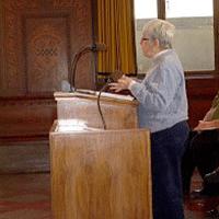 Mary Elizabeth McCarthy gives testimony at city council budget hearing, Nov. 2010