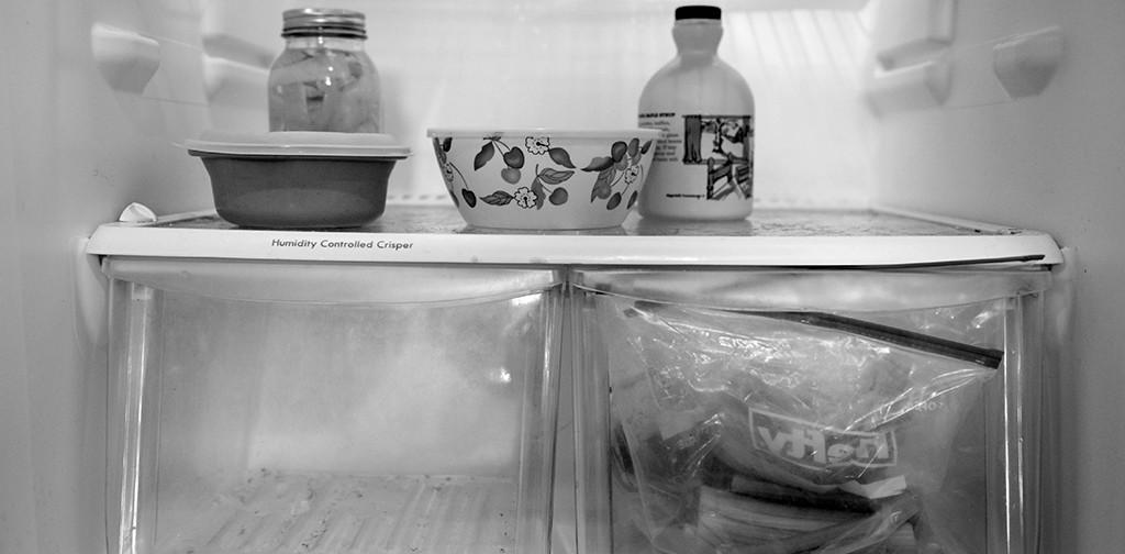 A mostly empty fridge