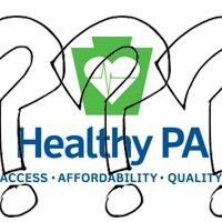 Healthy PA logo with question marks