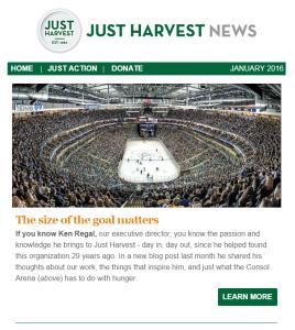 Just Harvest's Jan. 2016 e-newsletter